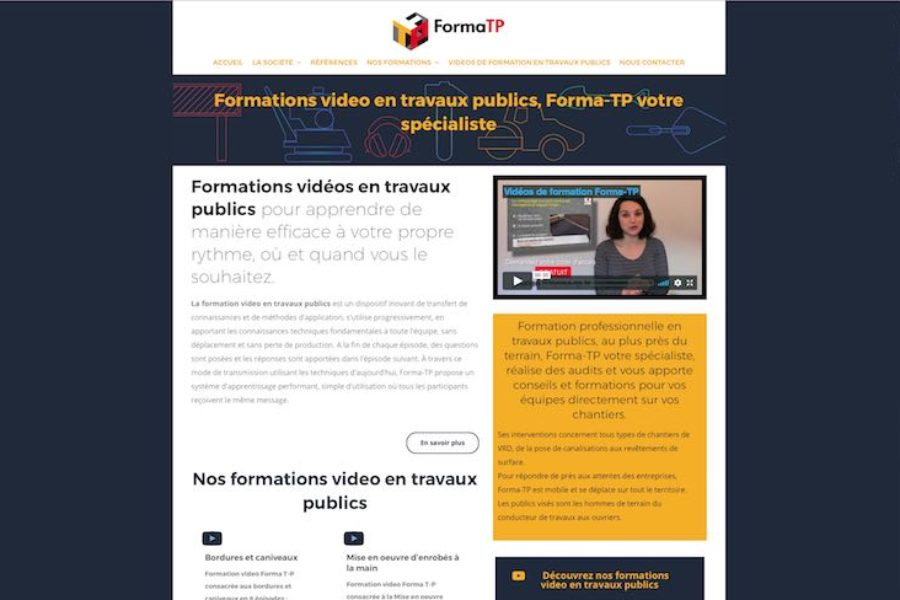 Site e-commerce Forma-TP